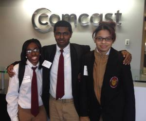 Students visit Comcast